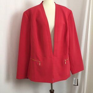 NWT NIPON BOUTIQUE Flamingo Open Blazer Suit 24